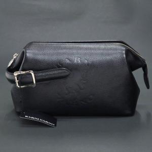 バーニヴァーノ ユニコーン型押し牛革セカンドバッグ 黒 BSS-HGB2894-09 BARNI VARNO クラッチバッグ|wanwan