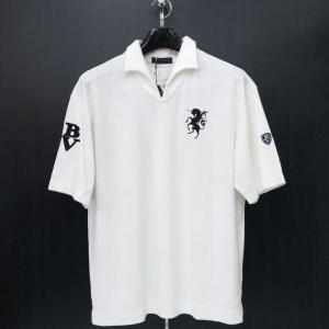 バーニヴァーノ パイル半袖イタリアンカラーTシャツ M/Lサイズ BSS-HPL2834-01 BARNI VARNO|wanwan