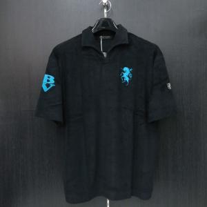 バーニヴァーノ パイル半袖イタリアンカラーTシャツ M/Lサイズ BSS-HPL2834-09 BARNI VARNO|wanwan