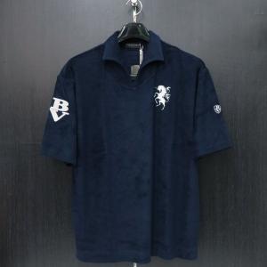 バーニヴァーノ パイル半袖イタリアンカラーTシャツ M/Lサイズ BSS-HPL2834-69 BARNI VARNO|wanwan