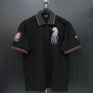 バーニヴァーノ 半袖ポロシャツ M/Lサイズ 黒 BSS-HPL2843-09 BARNI VARNO|wanwan