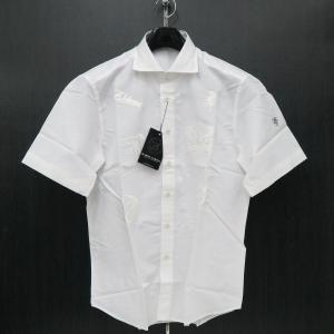 バーニヴァーノ 綿麻半袖シャツ 白 Lサイズ BSS-HSH2861-01 BARNI VARNO|wanwan