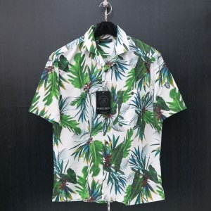 バーニヴァーノ 花柄半袖オープンシャツ M/Lサイズ BSS-HSH2866-01 BARNI VARNO|wanwan