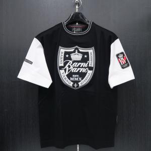 バーニヴァーノ 半袖Tシャツ 黒 LLサイズ BSS-HTH2828-09 BARNI VARNO ブルドッグ|wanwan