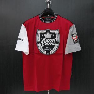 バーニヴァーノ 半袖Tシャツ 赤 M/Lサイズ BSS-HTH2828-45 BARNI VARNO|wanwan