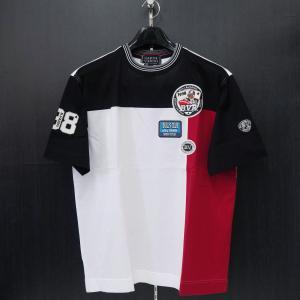 バーニヴァーノ 半袖Tシャツ M/Lサイズ BSS-HTH2830-09 BARNI VARNO ブルドッグ|wanwan