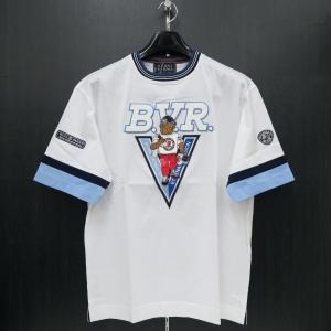 バーニヴァーノ 半袖Tシャツ 白 M/Lサイズ BSS-HTH2831-01 BARNI VARNO ブルドッグ|wanwan