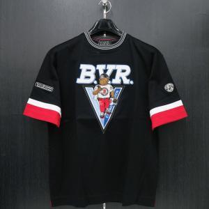 バーニヴァーノ 半袖Tシャツ 黒 M/Lサイズ BSS-HTH2831-09 BARNI VARNO ブルドッグ|wanwan
