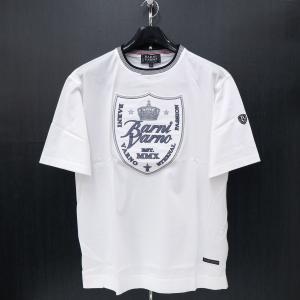 バーニヴァーノ 半袖Tシャツ 白 Lサイズ BSS-HTH2853-01 BARNI VARNO|wanwan