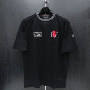 バーニヴァーノ 半袖Tシャツ 黒 M/Lサイズ BSS-HTH2857-09 BARNI VARNO|wanwan