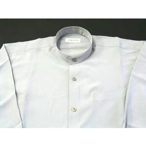 丸恵 スタンドカラーシャツ C6021-1 白|wanwan