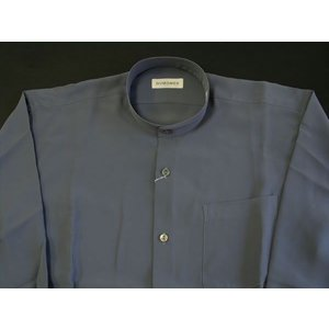 丸恵 スタンドカラーシャツ C6021-10 グレー|wanwan