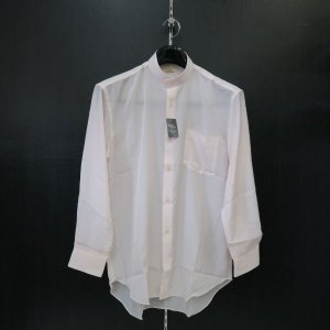 丸恵 スタンドカラーシャツ C6021-5 ピンク|wanwan