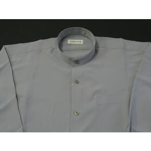 丸恵 スタンドカラーシャツ C6021-6 ライトグレー|wanwan