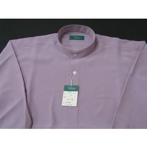 丸恵 スタンドカラーシャツ C6021-9 うす紫|wanwan