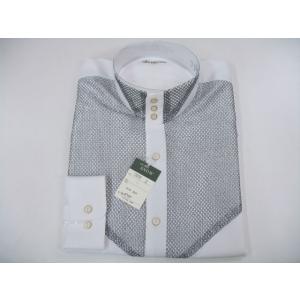 丸恵 ドレスシャツ 白/シルバー N2078-1|wanwan