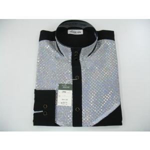 丸恵 ドレスシャツ 黒/白 N2096-1|wanwan