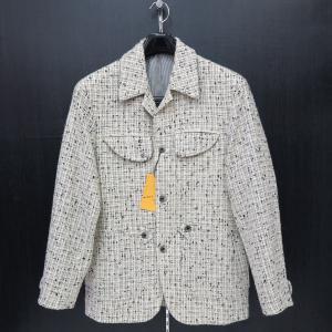 ビンチェーレ ネップツイードジャケット 白 48サイズ S5-3316-0 VINCERE|wanwan