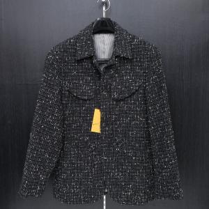 ビンチェーレ ネップツイードジャケット 黒 48サイズ S5-3316-1 VINCERE|wanwan