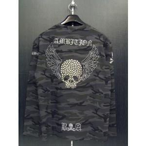 ビーアンビション 長袖Tシャツ 黒 T24206-GS BE AMBITION|wanwan