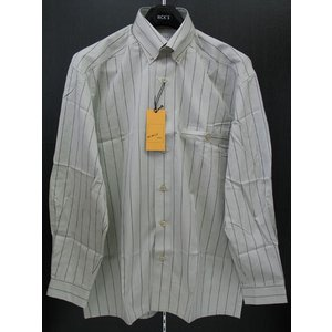ビンチェスポーツ 長袖ボタンダウンシャツ グレー/黒 V4-2059-0 VINCE SPORTS|wanwan