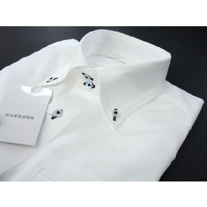 BARBANO ドゥエボット長袖シャツ 白 V4-2271-0|wanwan