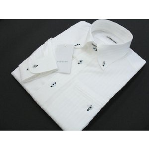 BARBANO ドゥエボット長袖シャツ 白 V4-2298-0-52 3Lサイズ|wanwan
