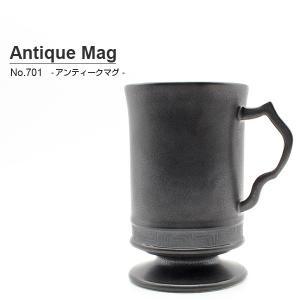 砥部焼 おしゃれ 【アンティークマグカップ】 コーヒーカップ モダン ブラック 窯元 和将窯 Washo-701|wapal