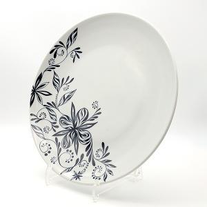 [一点物] 砥部焼 おしゃれ 【サークルプレート】 お皿 平皿 プレート 窯元 和将窯 Washo-702|wapal