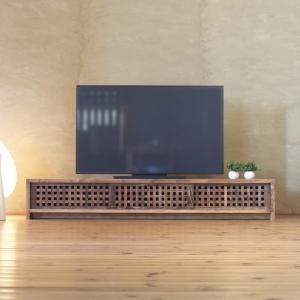 TVボード古都3枚引戸Lタイプ 琥珀色/テレビ台/テレビボード/TV台/無垢材/和モダン