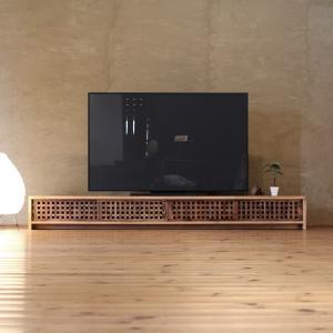 TVボード古都4枚引戸Lタイプ 琥珀色/テレビ台/テレビボード/TV台/無垢材/和モダン