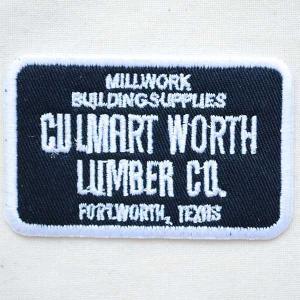 USAアドバタイジングワッペン CULMART WORTH LUMBER CO(ブラック&ホワイト)|wappenstore