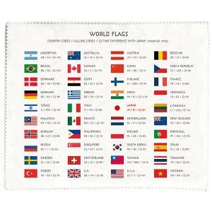 TABI Cloth(Japan Map) / タビクロス(世界国旗)   スマホやタブレット、カメ...