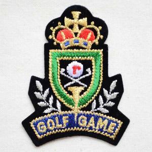 エンブレムワッペン GOLF GAME ゴルフゲーム 名前 作り方 912-91038|wappenstore