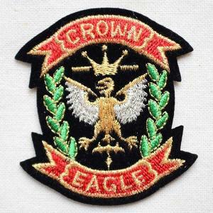 ミニエンブレムワッペン CROWN EAGLE クラウン イーグル|wappenstore