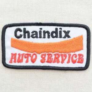 USAアドバタイジングワッペン Chaindix オートサービス(ホワイト&オレンジ) wappenstore