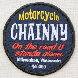 USAアドバタイジングワッペン Chainny モーターサイクル(ラウンド)|wappenstore