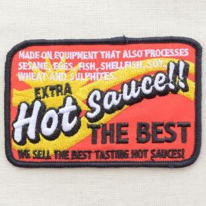 USAアドバタイジングワッペン Hot Sauce(レッド/レクタングル)|wappenstore