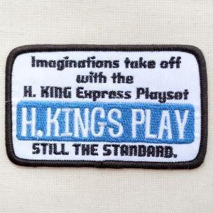 USAアドバタイジングワッペン H.Kings Play(ホワイト)|wappenstore