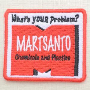 USAアドバタイジングワッペン M-Martsanto(レッド&ホワイト/スクエア)|wappenstore