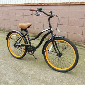 自転車/ビーチクルーザー サンタクルーズ Santa Cruz(ブラック/黒) 送料無料 *メール便不可 *代引き不可|wappenstore