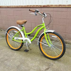 自転車/ビーチクルーザー サンタクルーズ Santa Cruz(ライムグリーン/黄緑) 送料無料 *メール便不可 *代引き不可|wappenstore