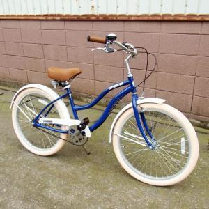 自転車/ビーチクルーザー サンタクルーズ Santa Cruz(ネイビーブルー/青) 送料無料 *メール便不可 *代引き不可|wappenstore