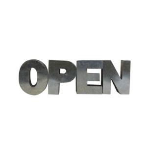 アルファベットサイン/ブリキ立体文字看板(電球なし) OPEN オープン(全5色) アメリカンサイン *メール便不可|wappenstore