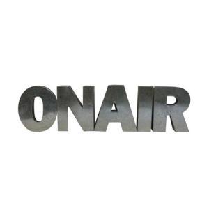 アルファベットサイン/ブリキ立体文字看板(電球なし) ON AIR オンエアー(全5色) アメリカンサイン *メール便不可|wappenstore