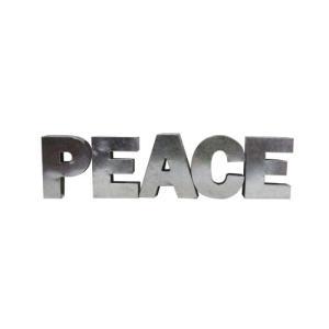 アルファベットサイン/ブリキ立体文字看板(電球なし) PEACE ピース(全5色) アメリカンサイン *メール便不可|wappenstore