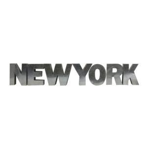 アルファベットサイン/ブリキ立体文字看板(電球なし) NEW YORK ニューヨーク(全5色) アメリカンサイン *メール便不可|wappenstore