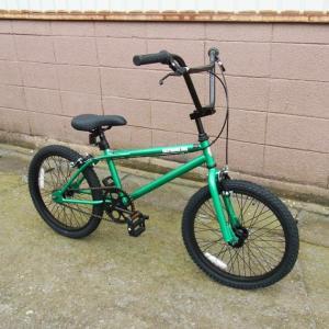 自転車 BMX ビーエムエックス(グリーン/緑) 送料無料 *メール便不可 *代引き不可|wappenstore