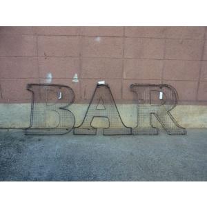 アルファベットサイン/立体文字看板(メッシュ) BAR バー(全2色) アメリカンサイン *メール便不可 *代引き不可|wappenstore