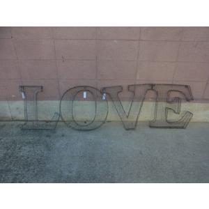 アルファベットサイン/立体文字看板(メッシュ) LOVE ラブ(全2色) アメリカンサイン *メール便不可 *代引き不可|wappenstore